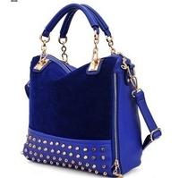 Free shipping 2013new female bag rivet package bag shoulder bag fashion handbag Rivet with three women's handbag