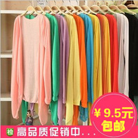 14 Colors 2013 Spring sweater Cotton Long Sleeve cape clothing air conditioning button thin cardigan ladies' knitted sweater
