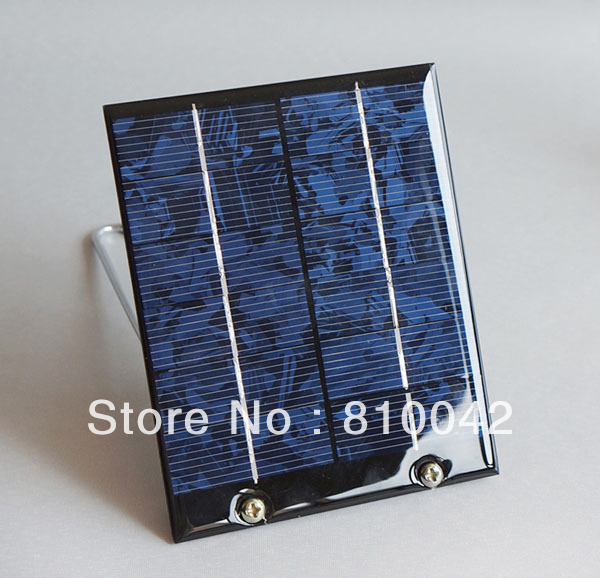 NEW DESIGN Portable Solar Charger 2W 6V Solar Panel+USB Output+180 Degree Iron Stand/Support+Diode DIY Battery Free Shipping(China (Mainland))