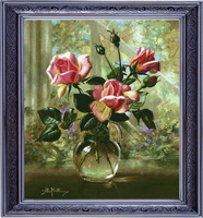 free shipping Cross stitch dmc kit williams hs-hh-0038 18 14ct flowers
