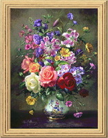 free shipping Cross stitch dmc kit williams hs-hh-0035  14ct flowers