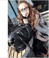 Korean Style Tote fashion ladies' handbag Shoulder bag PU leather Handbag woven free shipping