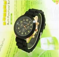 Hot new fashion designer women's sports brand silicone quartz watch unisex Free Shipping