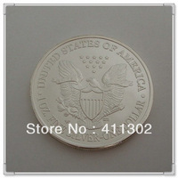 Free shipping NO-Magnetic matte surface 20pcs/lot 2013 .999 1oz  silver replica American libery Eagle Coin ,silver clad coin
