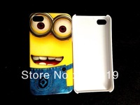 2013 NEW Despicable Me hard white case cover for iphone 4 4G 4S +free shipping   AB003