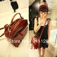 2014 camera bag  vintage women's handbag messenger bag black Wine red