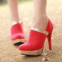 2013 New Hitz Korean princess senior waterproof heels shoes wedding shoes shoes matte