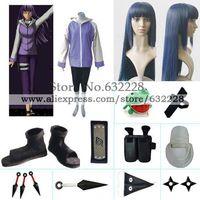 Naruto Hyuga Hinata Jacket Cosplay Costume Naruto set with wig