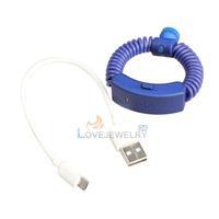 LY4# Anti-lost Incoming Call Alert Vibration Wireless Bracelet Blue Black