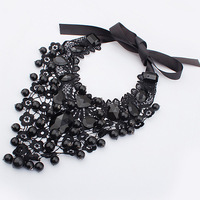 Min order is $10 NEW fashion elegant lace round ball accessories necklace 3988