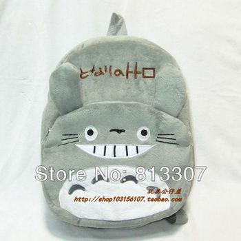"""30pcs/lot 12"""" Totoro Plush Backpack Bags, Children School Backpack ,Stuffed Plush Bags,Kids School Bags"""