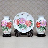 Modern ceramic andcreatively piece set decoration ceramic vase home decoration ceramic vase 3
