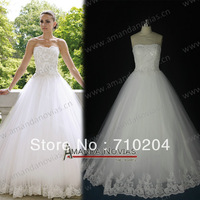 Custom order novias high quality real photos promotiona new 2014 wedding dress