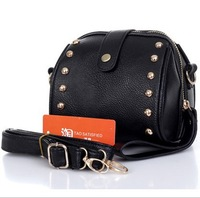 2013 Women rivets handbag Korean wild small shoulder bag ladies messenger bag rivets packet YJ1700
