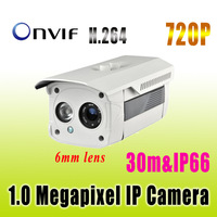 1 Megapixel IP Camera,H.264,720P,IR,Night Vision,Outdoor Waterproof,Network Security Camera