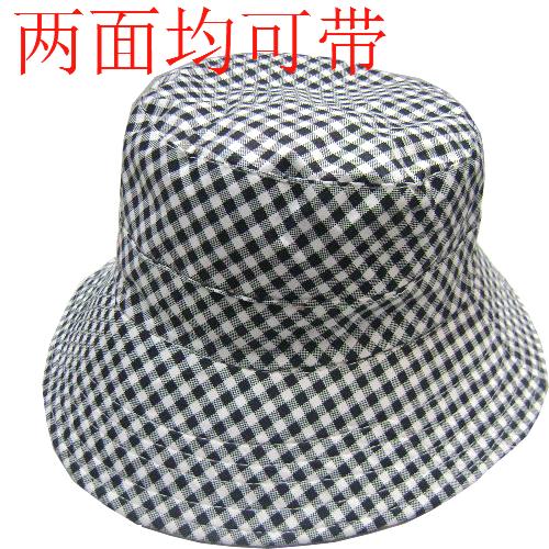 Fashion popular Summer outdoor quinquagenarian 100% cotton bucket hats bucket hat check male women's hat casual cap(China (Mainland))