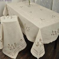 Jasmine plain linen 7039 quality rectangle coffee table cloth 100 150cm