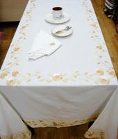 Elegant embroidered cotton rectangle tablecloth brief elegant