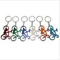 Factory Direct Wholesale supply best gift bike type aluminum Bottle Opener Keychain Can be customized LOGO 10pcs/lot