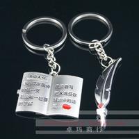 Lovers romantic couple key ring key chain