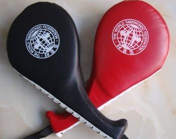 Искусственная кожа муай тай каратэ боевые искусства футов удар Pad практика целевая таэквон ремешок портативный двухместный весло удаление целевая Pad