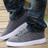 Low-top male shoes platform nubuck leather all-match fashion skateboarding shoes male shoes