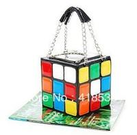 Wholesale 2013 new fashion personality cute cube shape hand carry bag woman bag handbag clutch