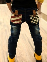 2013 child autumn boys clothing jeans pencil pants baby trousers spring and autumn