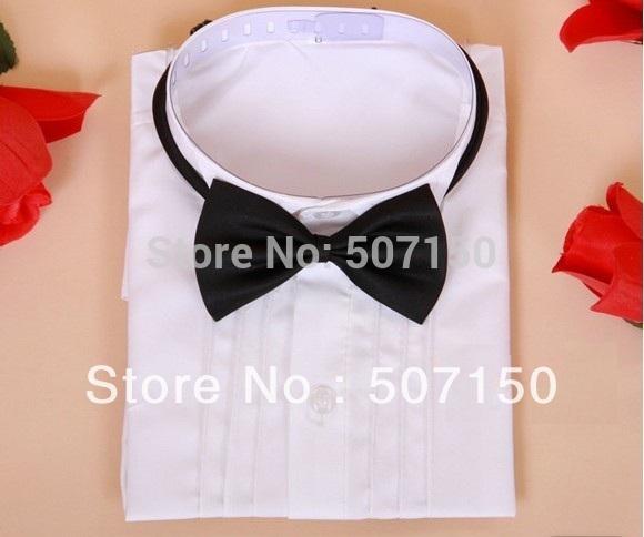New! Child white shirt boys Blouses formal dress shirt boy long sleeve shirt flower girl shirts 3-14Y Free shipping(China (Mainland))