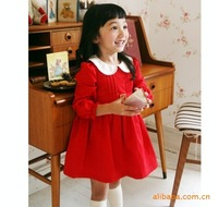 Children's clothing female child baby autumn and winter  2012 child red long-sleeve dress princess dress