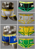 New Arrival 2014 world Cup design Men's Boxer shorts High Quality Modal 5color 3size Underwear Free shipping 100pcs/lot