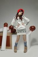 Free Shipping 0080 Autumn and winter fashion women's onta slim o-neck sweater long sweater design