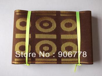 NEW design aso-oke headtie with free shipping,7 inch X 690 inch,Nigeria aso oke headwrap,coffee color