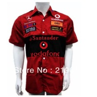F1 clothing automobile race jack daniels Mercedes shirt short-sleeve shirt embroidery