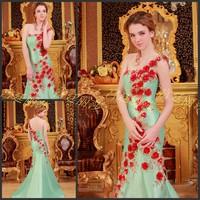 Ultimate luxury crystal formal dress formal dress toast the bride married formal dress evening dress xj4578