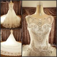 2013 bandage tube top wedding dress princess big train wedding dress xj838