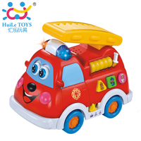 HUILE 526 fire truck voice child educational toys early childhood