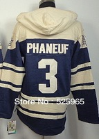Free Shipping Hockey Hoodies #3 Phaneuf Sweatshirts From China Wholesale/Custom/Mix order