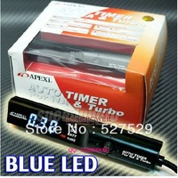 Universal APEX* Auto Turbo Timer For NA & Turbo Black Pen Control JDM Blue Led