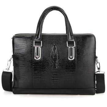 crocodile bags,men 's messenger bags,shoulder bags for men,fashion laptop bag,portfolio briefcases,z116