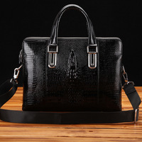 mens bags,crocodile pattern leather bags for men,new men's briefcase leather portfolios handbags,2013 fashion attache case,z121