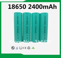 Free Shipping 10pcs/ lot   Li-Ion 18650 2400mAh rechargeable battery New Original industrial packed EXPORT Rechargeable
