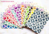 """5""""x7"""" (12.7cm x 17.7cm)Wedding 14 Colors Mix Mod party favor Bags Candy Paper Goods Bag kraft bags 1400pcs (25pcs/opp bag)"""