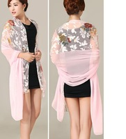 Fedex Free shipping, 180*90 cms, Silk polyester scarf, fashion shawl,cheap scarves, mixed style order is OK! New arrival!