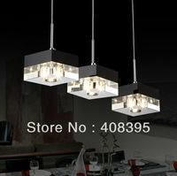 Free Shipping Italian-Style Minimalist 3 Light Pendant with Transparent Shade Chandelier Light/Pendant lamp