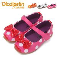 2014 autumn bow PU female single child dance shoes