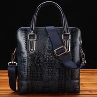crocodile pattern leather bags,men's bag,messenger bag men,laptop bag leather men's briefcases,portfolio men handbags,z123