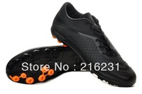 2013 Discount soccer shoes outdoor soccer cleats Venom soccer boots TF Jnr football shoes Nubuck Leather black orange size 39-45