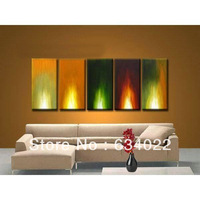 Free Shipping High Quality Guaranteed Wall Art Home Decoration 100% Hand painted Flame Oil Painting on Canvas 031