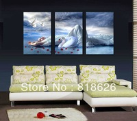 3 Panel Huge Painting On Canvas Living Room Home Decoration Wall Hunging Picture Of Woman Print Art Pt736